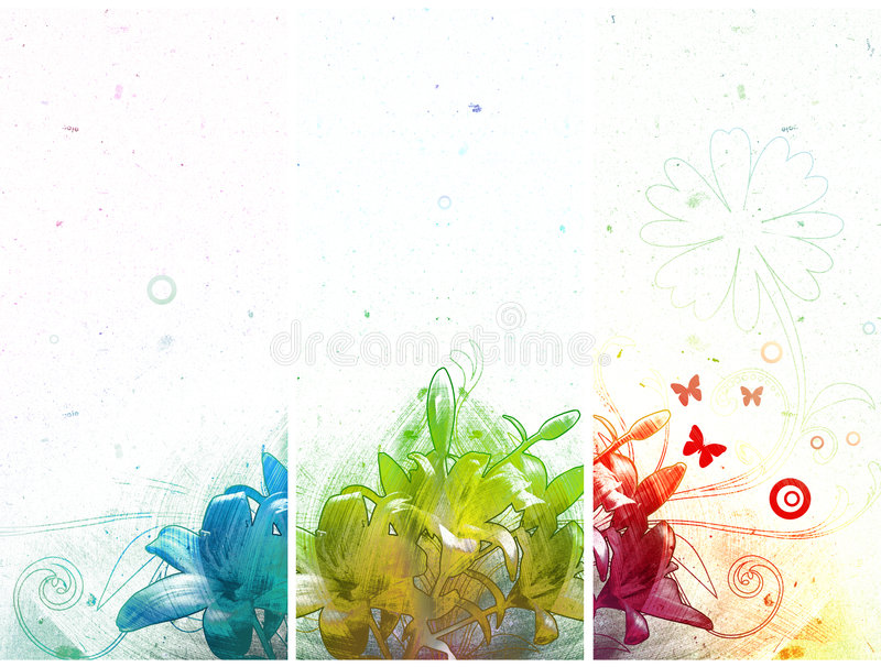 Download Three abstract banners stock illustration. Illustration of modern - 9343300