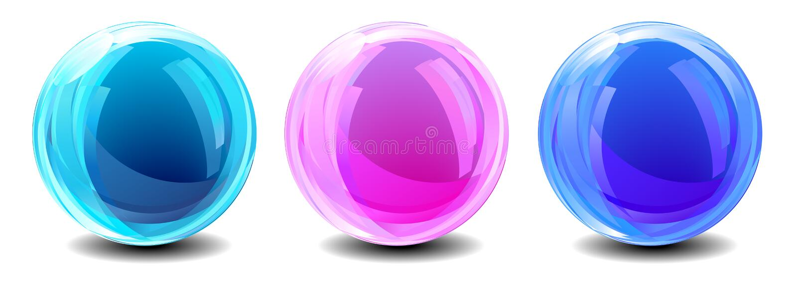 Three Abstract Globes Royalty Free Stock Photo