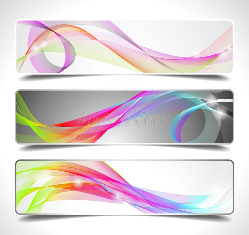 Free Three Abstract Vector Banner Background Stock Photography - 20903792
