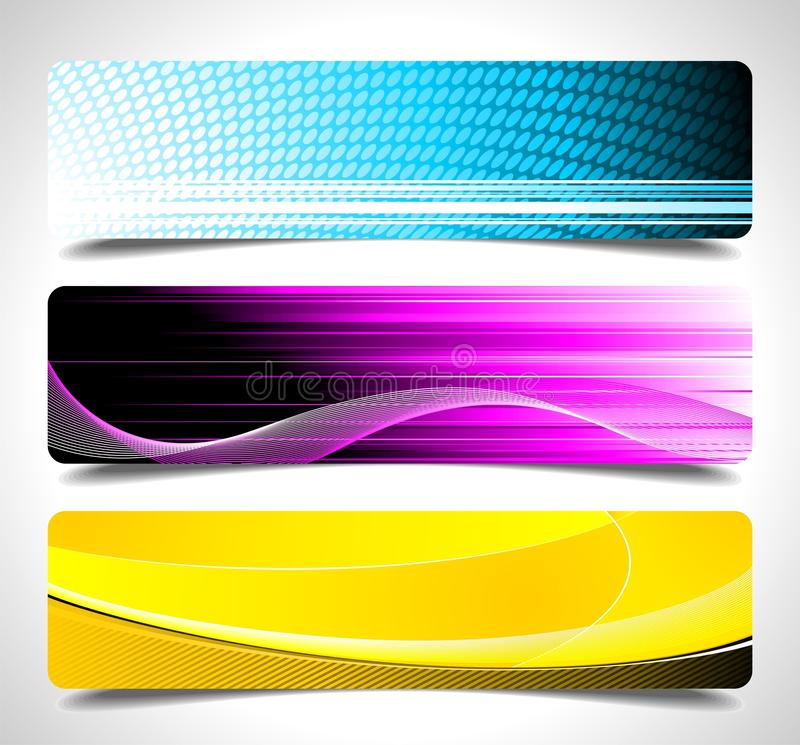 Free Three Abstract Vector Banner Background Royalty Free Stock Image - 20904716