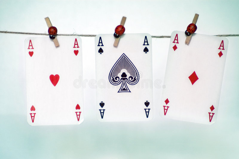 Three ace stock images