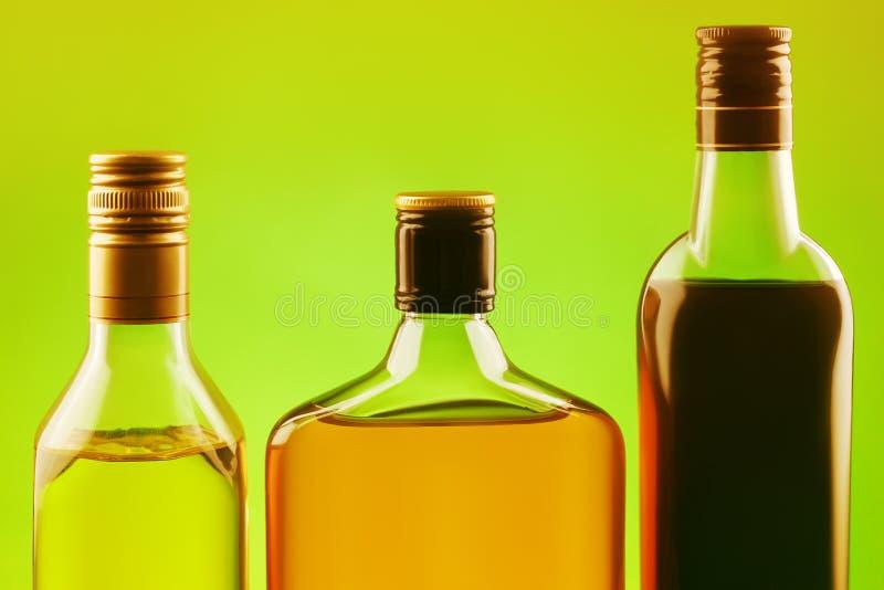 Three alcohol drinks set stock photography
