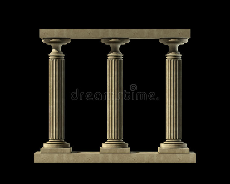 Download Three Ancient Columns Of Marble Stock Image - Image of architecture, columns: 24127897