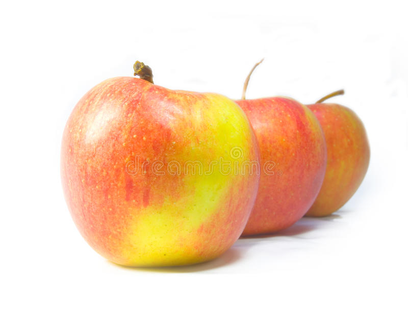 Download Three apples stock photo. Image of color, background - 11573908