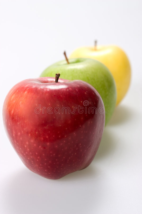 Download Three Apples On White Background Stock Image - Image: 6595781
