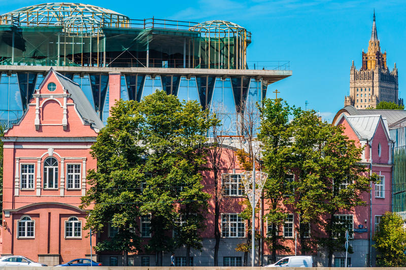 Three architectural styles royalty free stock photos