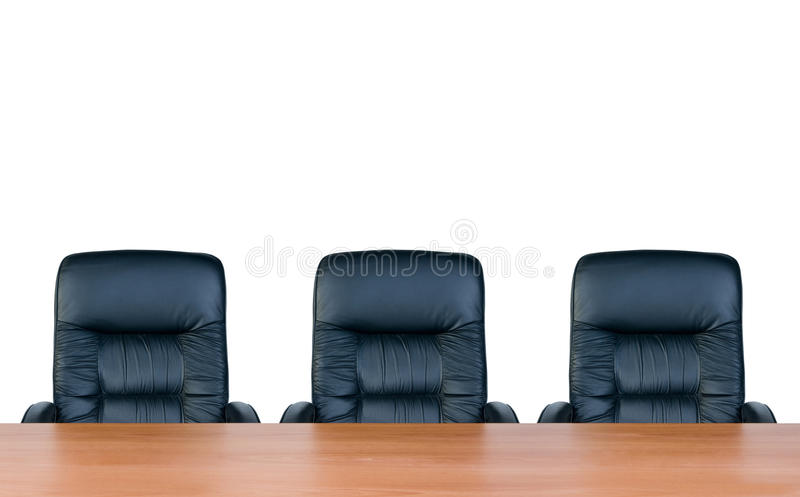 Three armchairs and table royalty free stock images