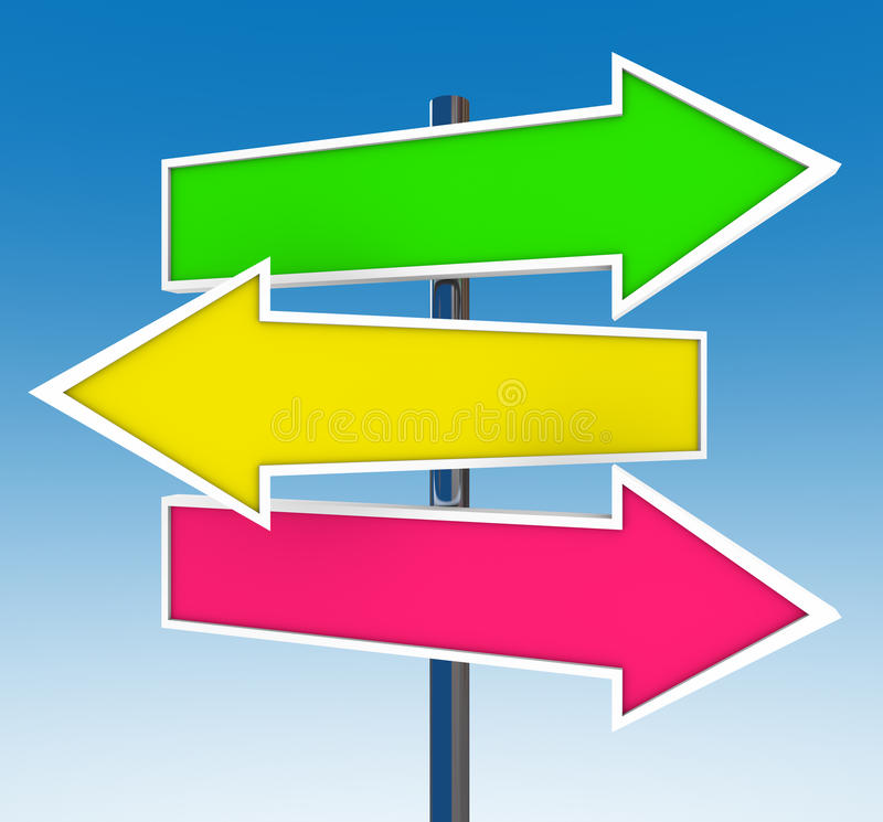 Download Three Arrow Signs - Which Option Do You Choose? Stock Illustration - Illustration: 16343781