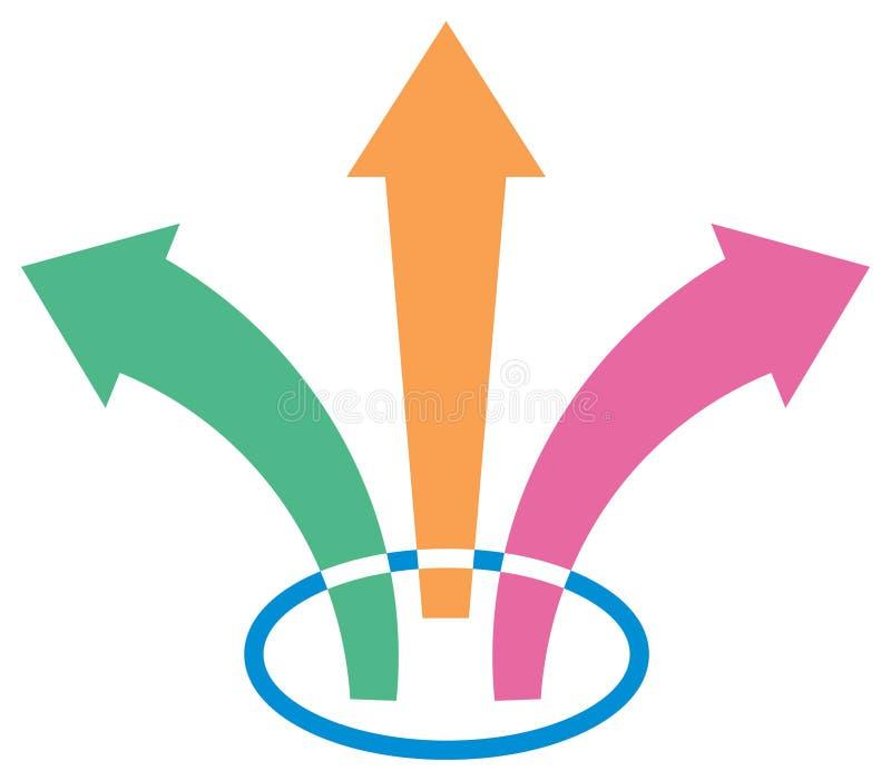 Download Three arrows stock vector. Image of bundle, distribute - 15012764