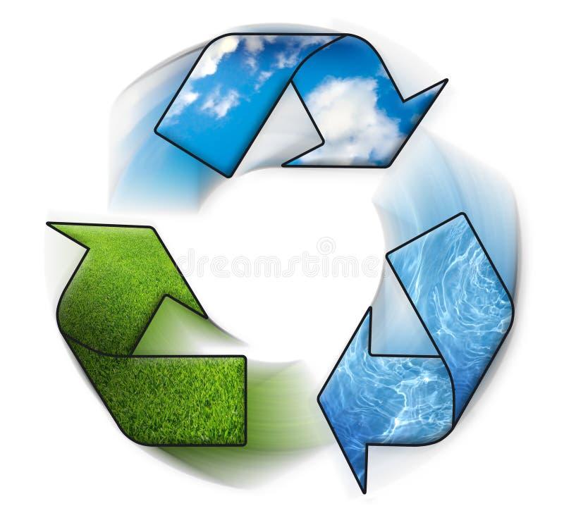Three arrows of nature elements vector illustration
