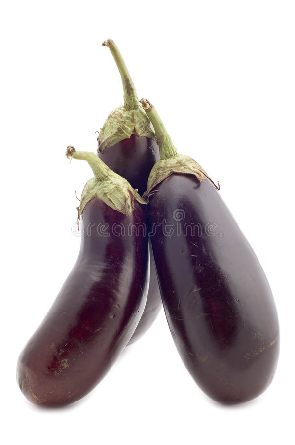 Three aubergine royalty free stock images