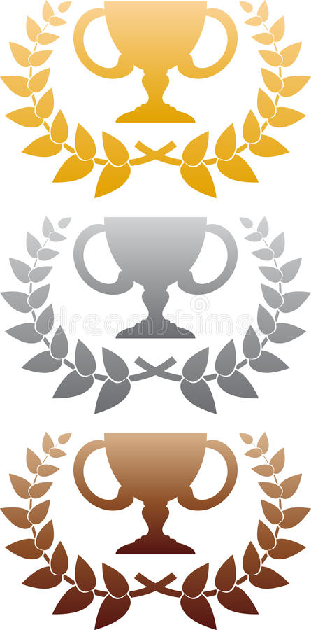 Three Awards Royalty Free Stock Images