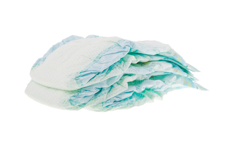 Three Baby S Diapers. Stock Photography