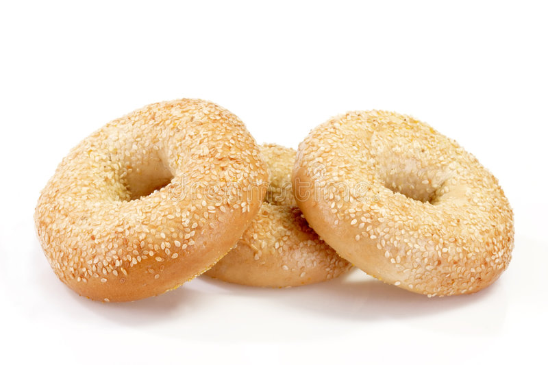Three Bagels royalty free stock photography