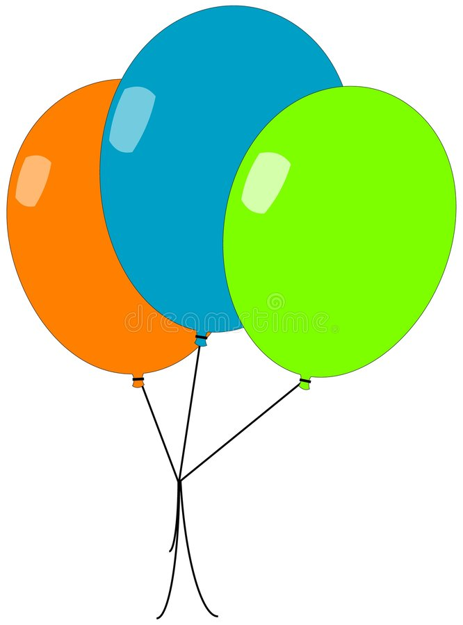 Three balloons royalty free illustration