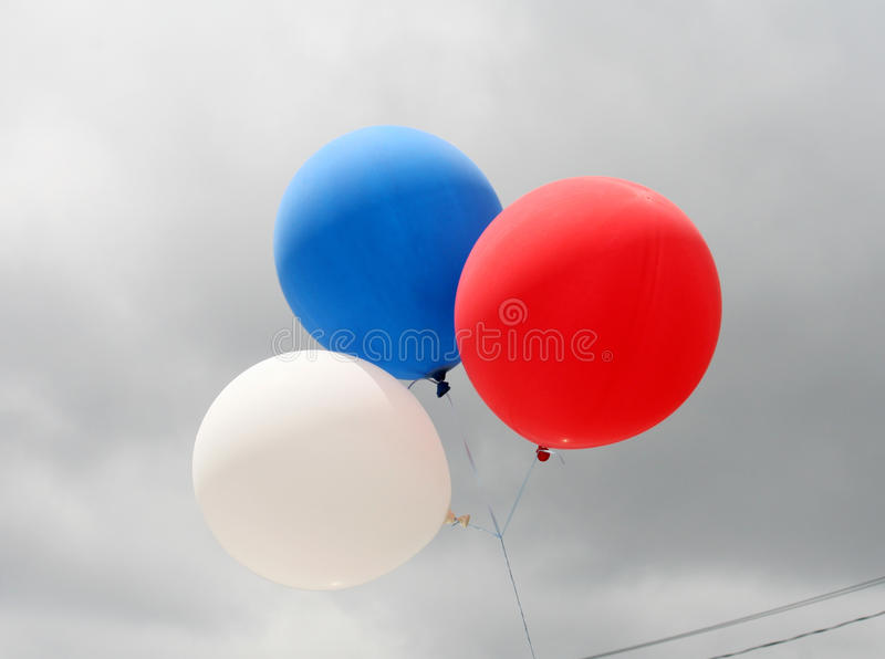 Download Three Balloons stock image. Image of white, nature, background - 9946203