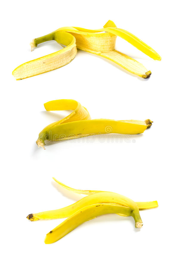Three banana peels royalty free stock photography