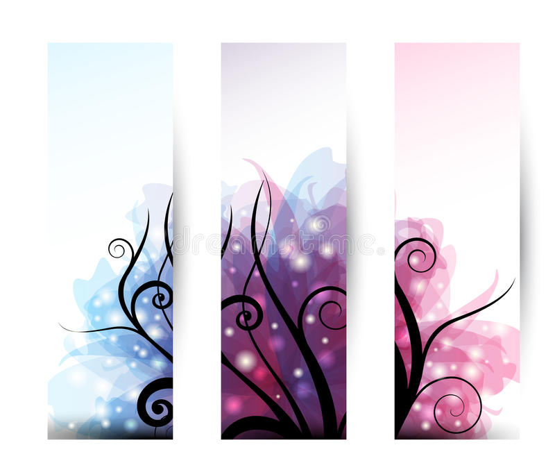 Download Three Banner stock vector. Image of fashion, color, fantasy - 20144862