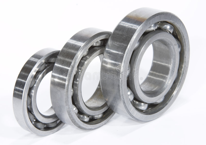Three bearings. At white stock photography