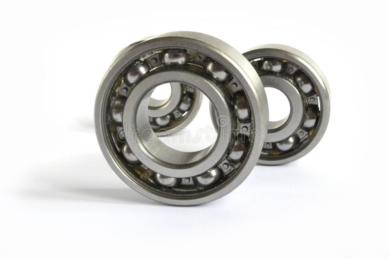 Three bearings. On the white background royalty free stock image