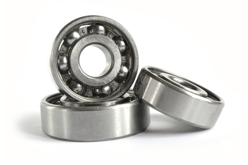 Three bearings. On the white background royalty free stock photo