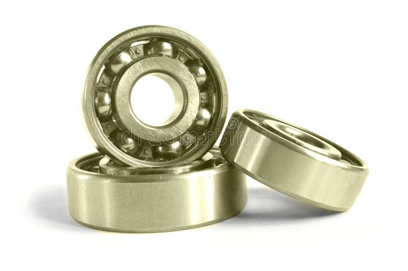 Three bearings. On the white background royalty free stock photos