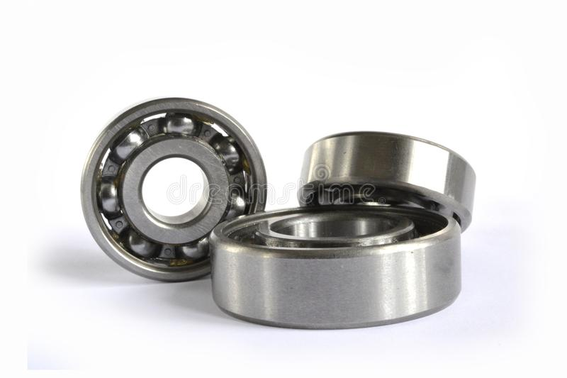 Three bearings. On the white background royalty free stock photography