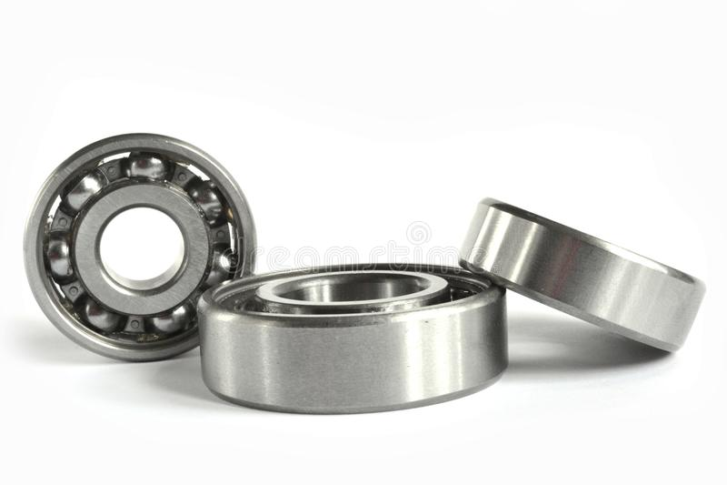 Three bearings. On the white background stock image