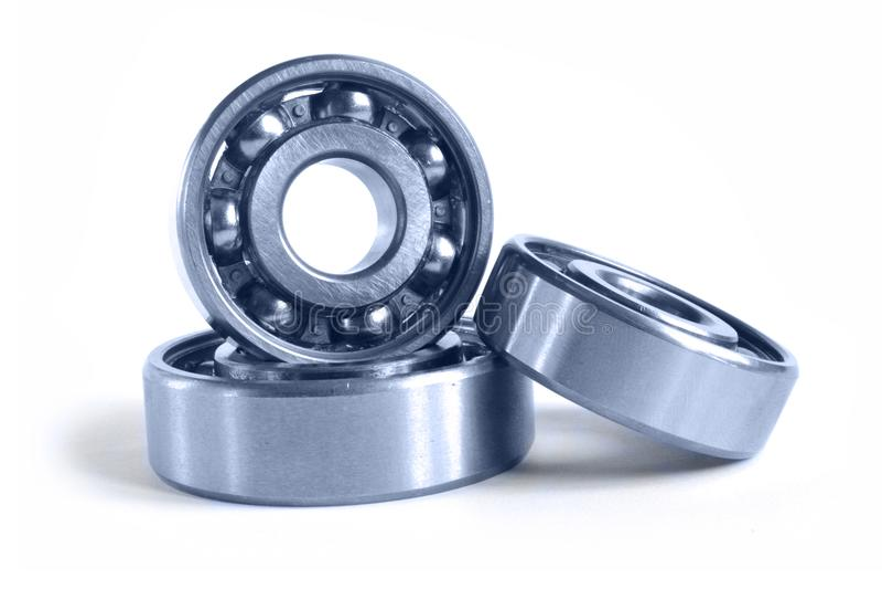 Three bearings. On the white background stock photos