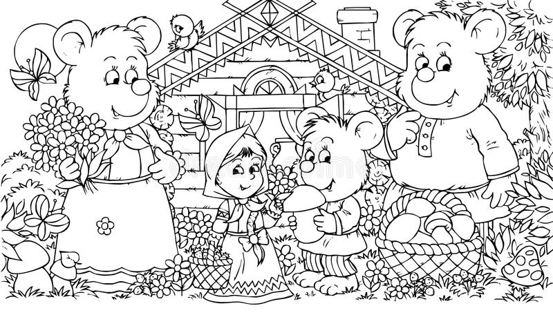 Download Three Bears And Little Girl Royalty Free Stock Photo - Image: 14527745