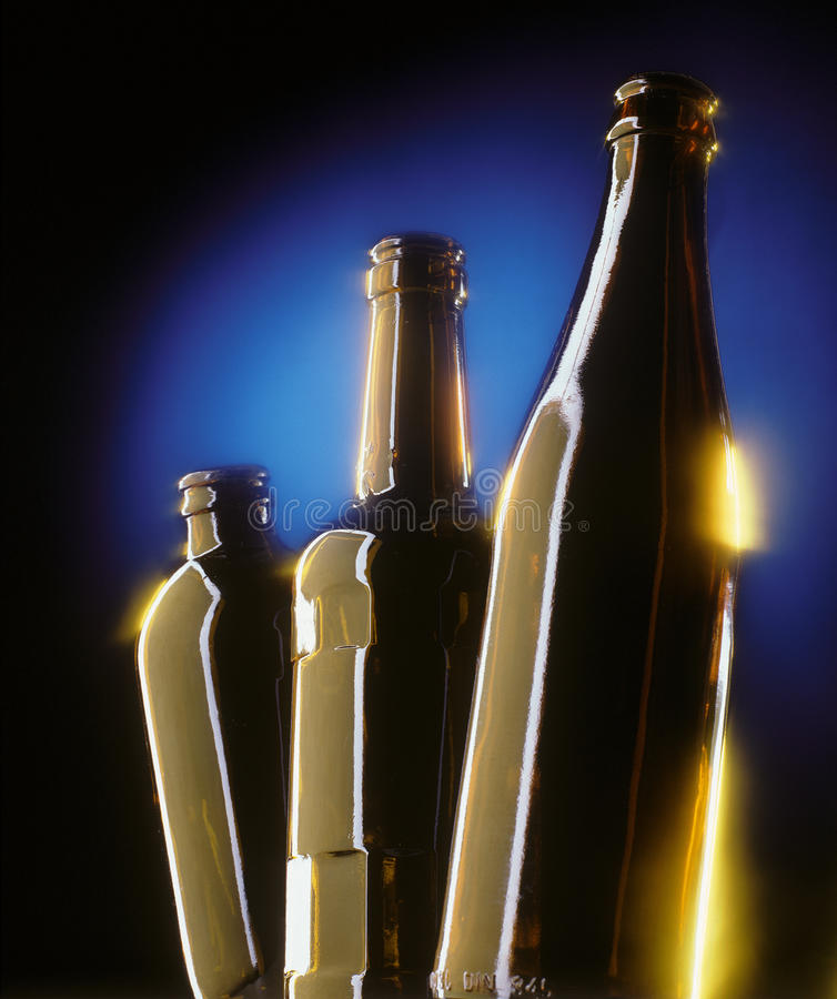 Three beer bottles royalty free stock image