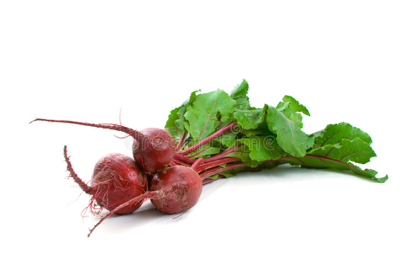 Three Beetroot over white
