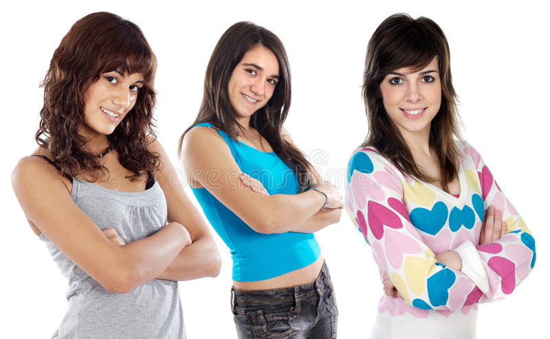 Download Three best friends stock image. Image of sister, sisters - 3282807