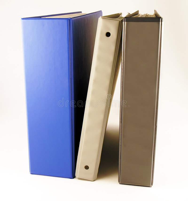 Three Binders royalty free stock photo