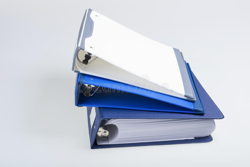 Three Binders stock images