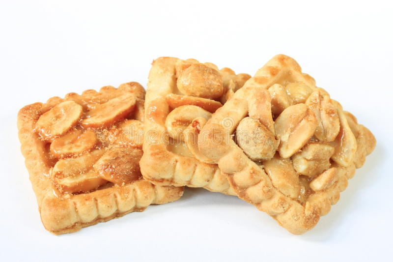 Three biscuits stock photography
