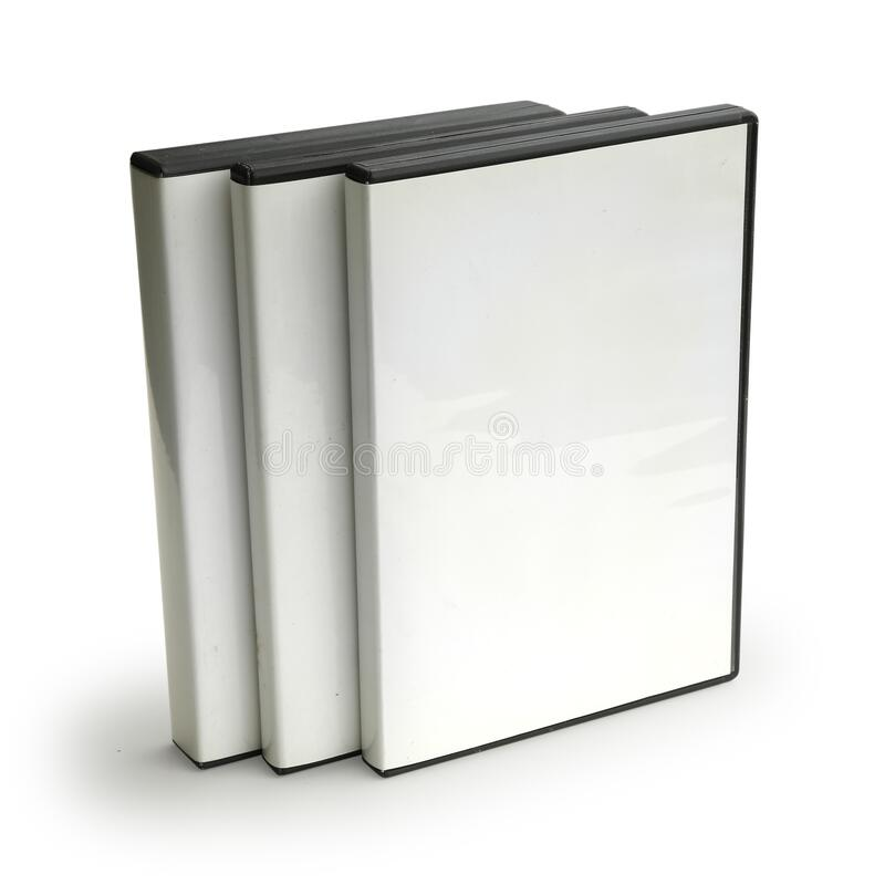 Three Blank DVD Cases Isolated on White Background. Three Blank DVD Cases Isolated on a White Background High Angle vector illustration