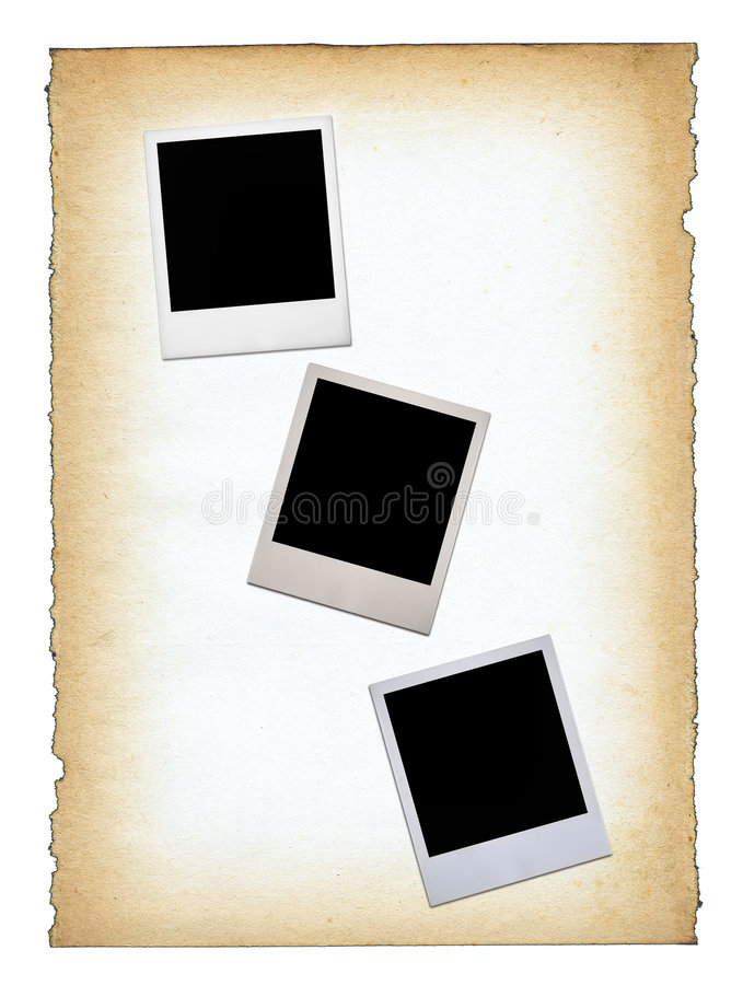 Download Three blank photo frames stock photo. Image of paint, isolated - 4681564
