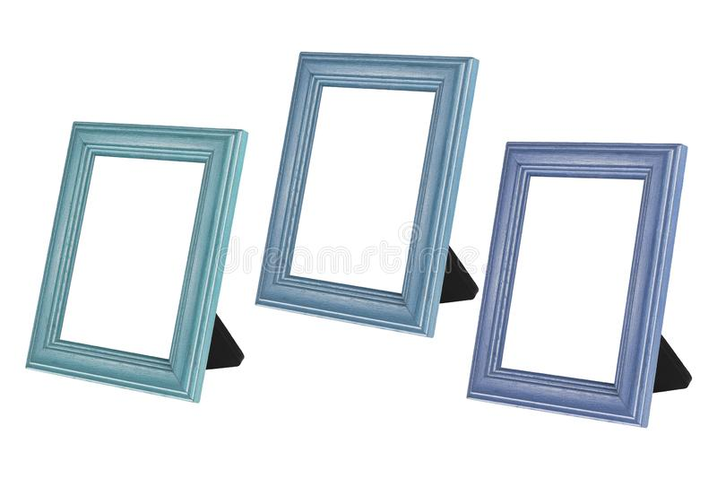 Blank Wooden Photo Frames stock images