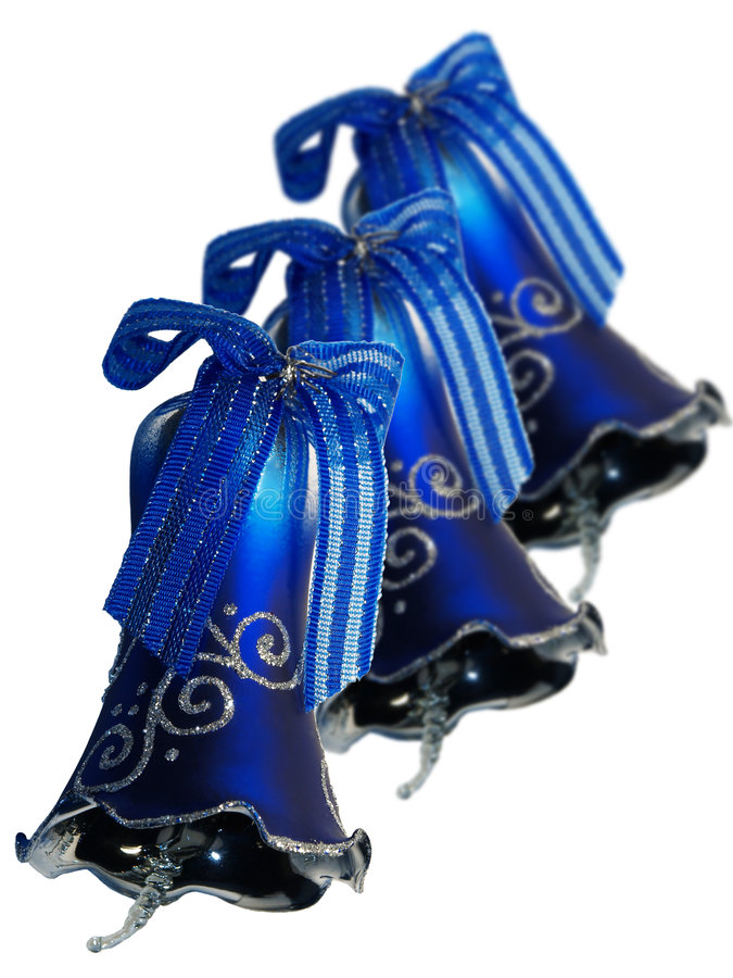 Three blue bells royalty free stock images