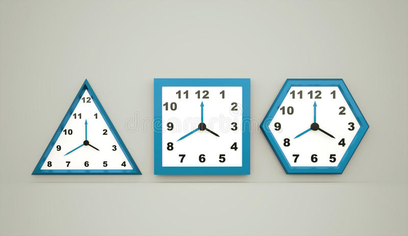 Three blue watches. Icon concept royalty free illustration
