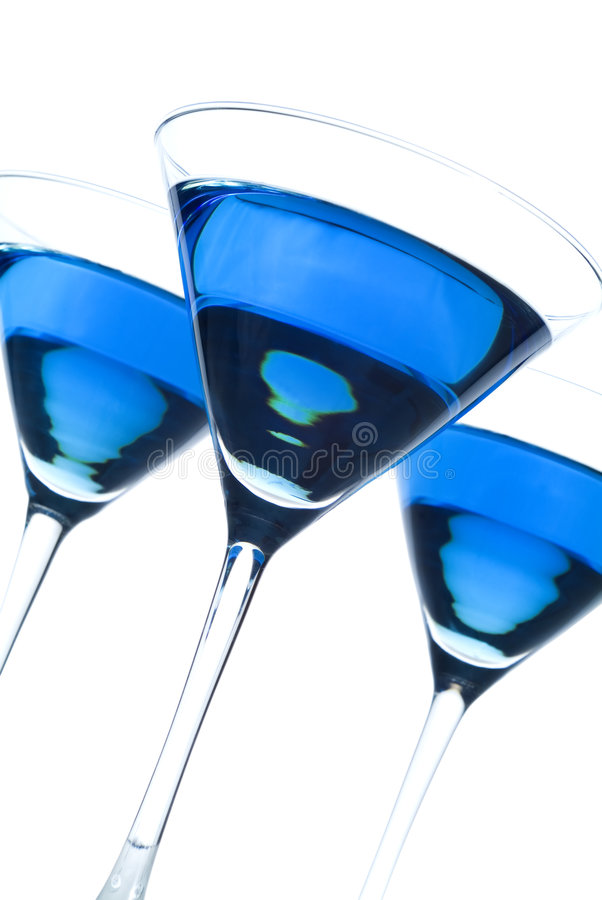 Free Three Blueberry Martinis Titled Royalty Free Stock Image - 3920436