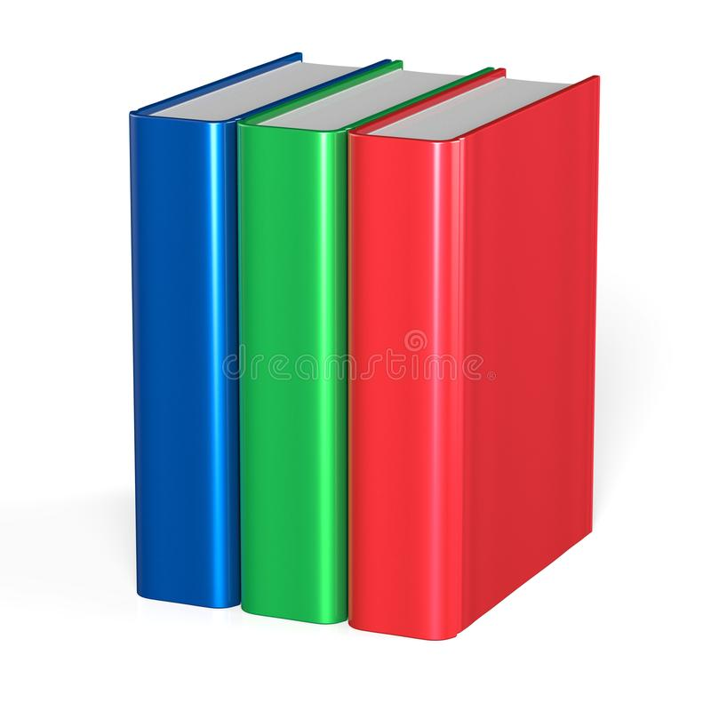 Free Three Books Blank Cover Standing 3 Textbook Workbook Stock Image - 102458161