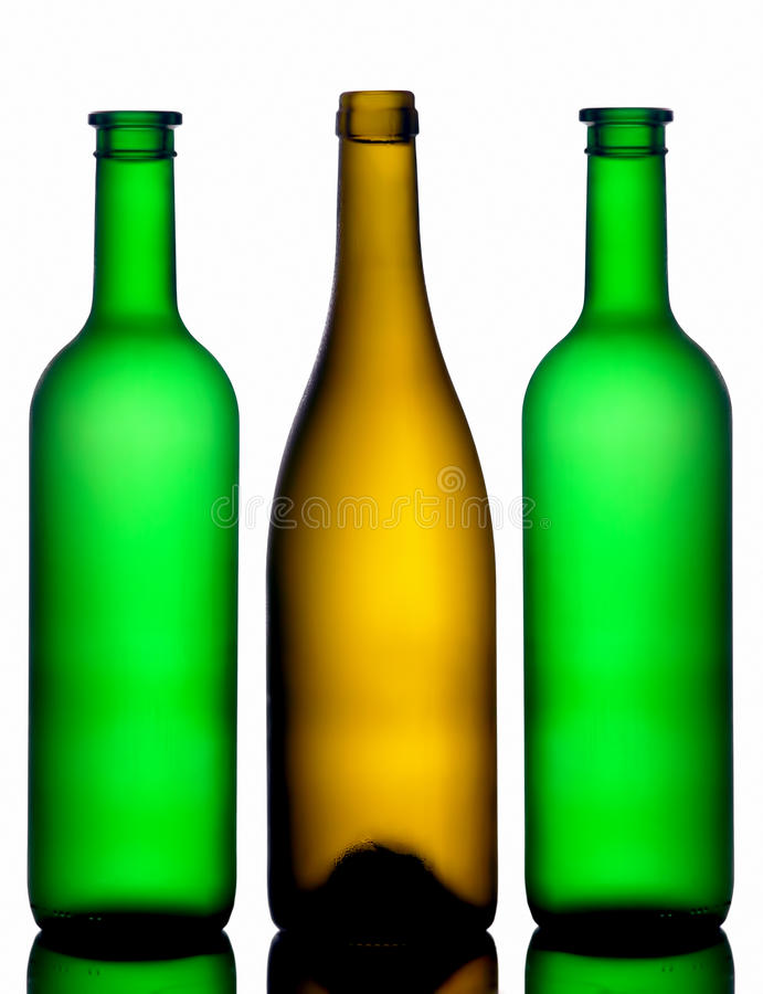 Download Three bottles stock image. Image of alcohol, green, drinking - 17413263