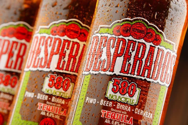 Three Bottles Of Desperados Beer Editorial Stock Image Image Of Logo Editorial 74933569