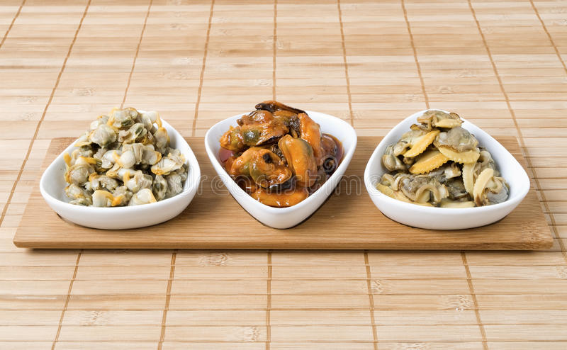 Download Three Bowls Of Seafood Stock Image - Image: 24898211