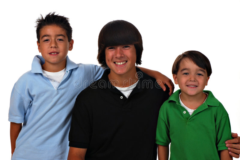 Download Three Boys stock image. Image of cute, smiling, boys, teen - 6251005