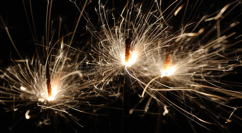 Download Three Bright Sparklers stock photo. Image of december - 10197644