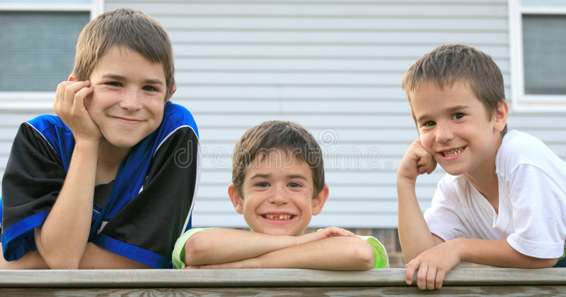 Three Brothers royalty free stock photos