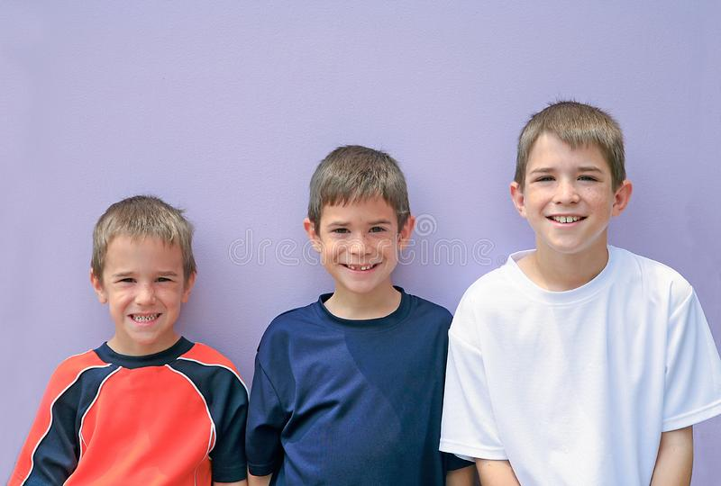 Download Three Brothers stock photo. Image of children, child, friend - 4394418